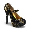 TEEZE-07SQ Black/Gold Sequins